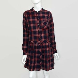 Current Elliot Plaid Long Sleeve Dress Button Up